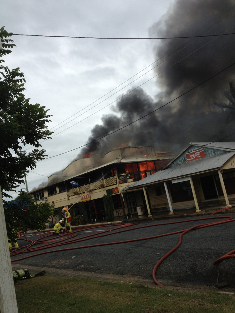 Calen Hotel Up In Flames